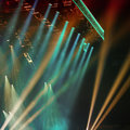 Stage lights colorful at concert Royalty Free Stock Photo