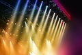 Stage lights colorful at concert Royalty Free Stock Image
