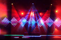 Stage Lights With LED Design Stock Photos