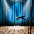 Stage and microphone Stock Photography