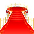 Stage with red carpet vector illustration of circular Stock Photos