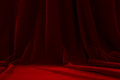 Stage red velvet theater curtain on a Royalty Free Stock Photo