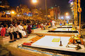 Stage set for Ganga Aarti Royalty Free Stock Photos