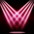 Stage sparkling spotlight pink abstract background Stock Photo