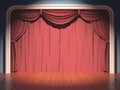 Stage theater your text in the center of the curtain Royalty Free Stock Images