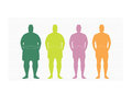 Stages of silhuette man on the way to lose weight,Vector illustrations Royalty Free Stock Photo
