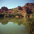 Stagnant Desert Pond Stock Photography