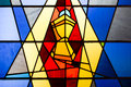 Stain glass window of the holy grail Stock Images