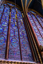 Stain glass window of st chapelle paris france Royalty Free Stock Photo
