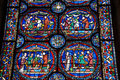 Stain glass windows beautiful at canterbury cathedral Royalty Free Stock Images