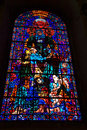 Stain glass windows beautiful at canterbury cathedral Royalty Free Stock Photography