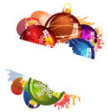 Stained Christmas decorations Stock Images