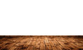 Stained floor boards with knots and joints without skirting board but with plain white wall Royalty Free Stock Images
