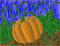Stained glass abstract illustration with pumpkin Royalty Free Stock Photo