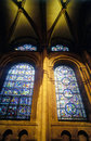 Stained glass and arches in canterbury cathedral Royalty Free Stock Image
