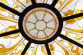 Stained glass ceiling closeup Royalty Free Stock Images