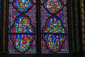 Stained glass of the chapel of the Sainte-Chapelle