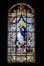 Stained glass church Royalty Free Stock Photo