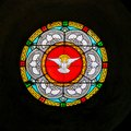Dove, Holy Spirit - Stained Glass in Antibes Church Royalty Free Stock Photo