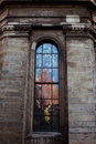 Stained glass of the church in lviv Stock Photography