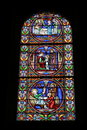 Stained glass church window Stock Images