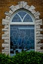 Stained Glass Church Window, Jesus and Disciples Royalty Free Stock Photo