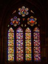 Stained glass church window - Leon Royalty Free Stock Photo