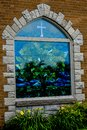 Stained Glass Church Window Millard Community church Royalty Free Stock Photo
