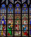 Stained glass in church Royalty Free Stock Photo