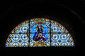 Stained glass church window Royalty Free Stock Photo