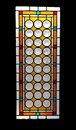 Stained glass colorful on black Royalty Free Stock Photo