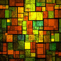 Stained glass a colorful wall Royalty Free Stock Photography