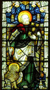 Stained glass depicting st mark Royalty Free Stock Photography