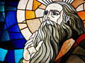 Stained Glass Detail of a Prophet Royalty Free Stock Photo