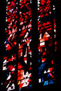 Stained glass of the dom of Xanten Stock Images