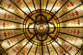 Stained glass dome Stock Images