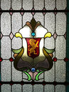 Stained glass of Dunedin Railway Station Royalty Free Stock Photo