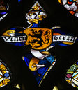 Stained Glass - Flemish Lion Royalty Free Stock Photo