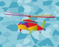 Stained glass helicopter Stock Photos