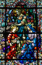 Stained Glass of the Holy Family Royalty Free Stock Image