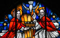 Stained Glass - the Holy Trinity Royalty Free Stock Photo