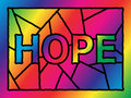 Stained Glass Hope Stock Photo