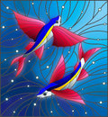 Stained Glass Illustration Wit...