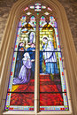 Stained glass Inside Interior a Catholic Royalty Free Stock Images