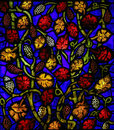 Stained glass in leon window the cathedral of castille and spain Stock Photos
