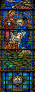 Stained Glass Nativity Royalty Free Stock Photography