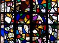 Stained Glass in an Old Church in London, United Kingdom