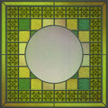 Stained glass panel with empty space for content Royalty Free Stock Photography