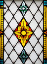 Stained-glass panel in the mus Stock Image