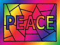 Stained Glass Peace Royalty Free Stock Photo